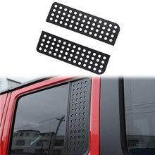 Für Jeep Wrangler JK 2007 2017 JL 2018 2022 4 Türen Hinten Tür Dreieck Fenster Dekoration Abdeckung Trim aufkleber Auto Zubehör Schwarz