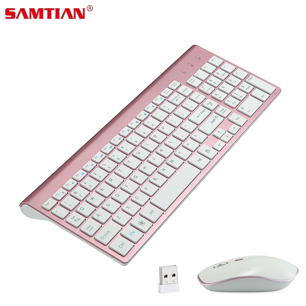 SAMTIAN 2.4G Mouse Wireless Full Size 102 tasti tastiera Wireless Mouse set tastiera per Tablet Computer portatile
