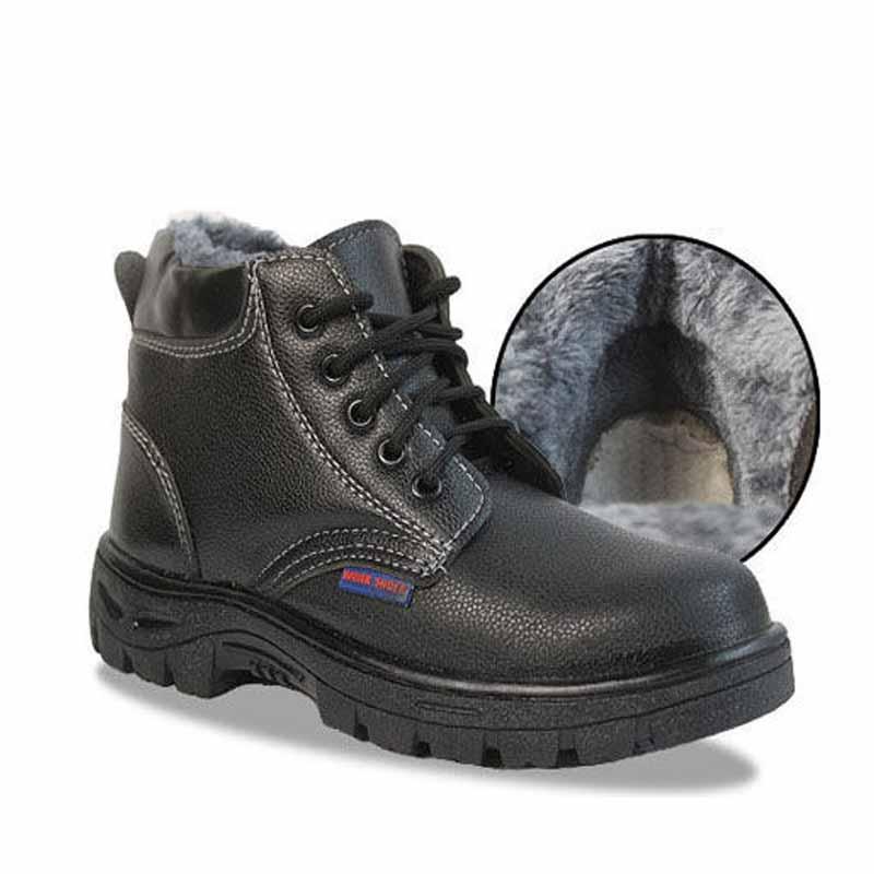 Men Rubber sole Shoes Steel Toe Work