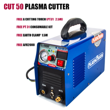 Plasmagon Cut 40/50 LGK 40 .Plasma Cutter HF Cutting Device 10-50A 110/220v Machine Free Consumable Kit