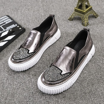 New chaussures femme ladies shoes scarpe donna schoenen vrouw platform shoes loafers women