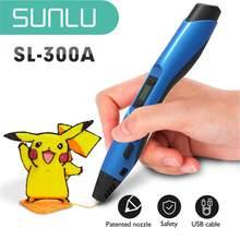 SUNLU – stylo d'impression 3D 300A, avec température réglable, cadeau bricolage noël