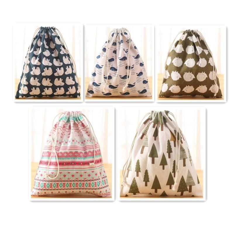 Vogvigo Portable Drawstring Bags Girls Cosmetic Bags Women Cotton Travel Pouch Storage Clothes Handbag High Quality Makeup Bag