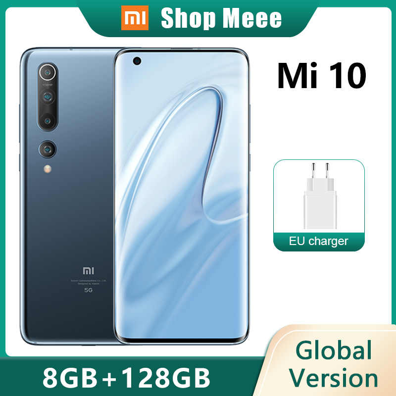 "Globale Version Xiaomi Mi 10 8GB 128GB Smartphone Mi10 5G 6.67 ""Handy Snapdragon 865 Octa core NFC 108MP Quad Kamera"
