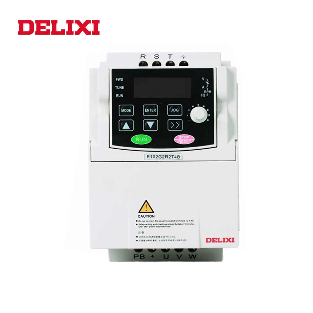 Inversor de frecuencia DELIXI 15KW AC 380V 3 fases DC controlador de velocidad del reactor 50HZ 60HZ VFD frecuencia Variable convertidor para Motor