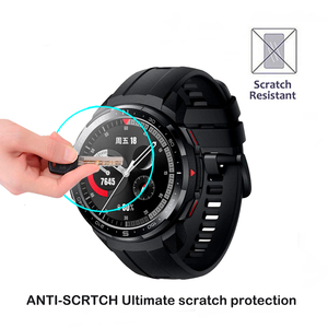 Image 3 - Protecteur décran en verre trempé 2.5D pour Huawei Honor montre magique 2 GT 2 GT2 42mm 46mm GS Pro Smartwatch Film de protection décran