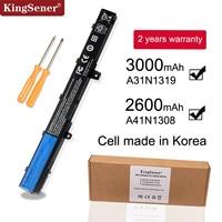 KingSener A31N1319 A41N1308 X551M A31LJ91 Battery for ASUS X451CA X451 X551 X451C X451M X551C X551CA F451C F551M 0B110 00250100 battery for asus asus battery a41n1308 asus x551 battery -