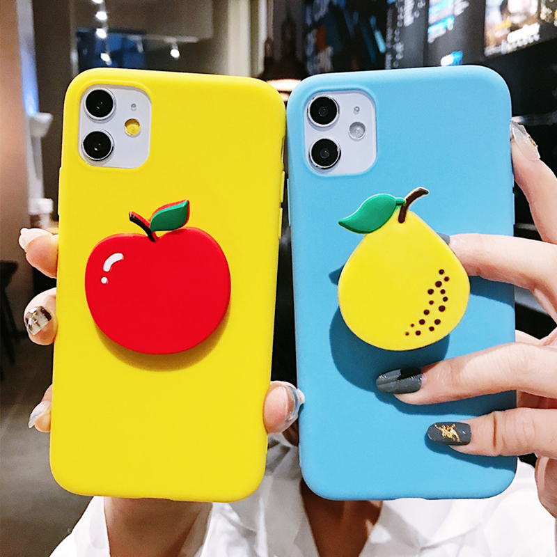Cute Avocado Stand Finger Ring Case For Motorola Moto G8 Power G7 G6 G5S Action Vision E6 Plus E5 E4 Strawberry Holder TPU Cover