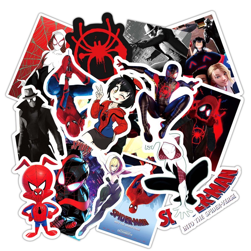 Super Hero Stickers 10/30/50pcs Sets Spider Man Sticker For Laptop Bicycle Phone Guitar Marvel Cartoon Anime Stickers Pack