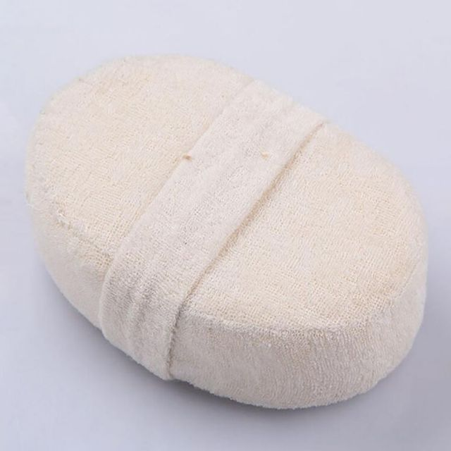 Natural Loofah Body Scrubber Bath Exfoliating Scrub Sponge Soft Shower Brushes Exfoliator Shower Puff Massager Body Skin Care 2