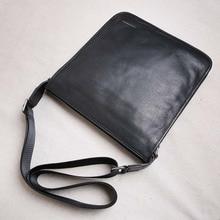 AETOO Leather men's bag vertical section ultra-thin shoulder