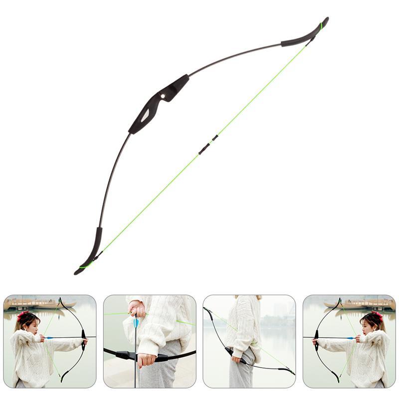 1 шт. прямые лук традиционный длинный лук для стрельбы на открытом воздухе состязание охотников и бантом