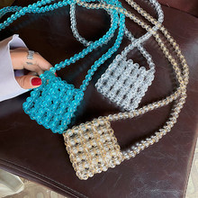 Handmade Beaded Lipstick Purse Classic Texture Delicate Creative Design Chic Holiday Hollow Out Fashion Small Shoulder Bags(China)