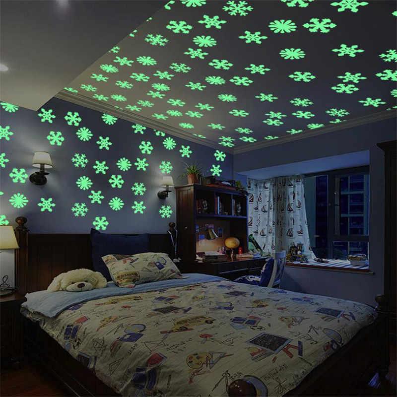 Lueur dans le noir enfants chambre fluorescente lueur dans les étoiles sombres lueur Stickers muraux étoiles lumineux lumineux lueur autocollant couleur