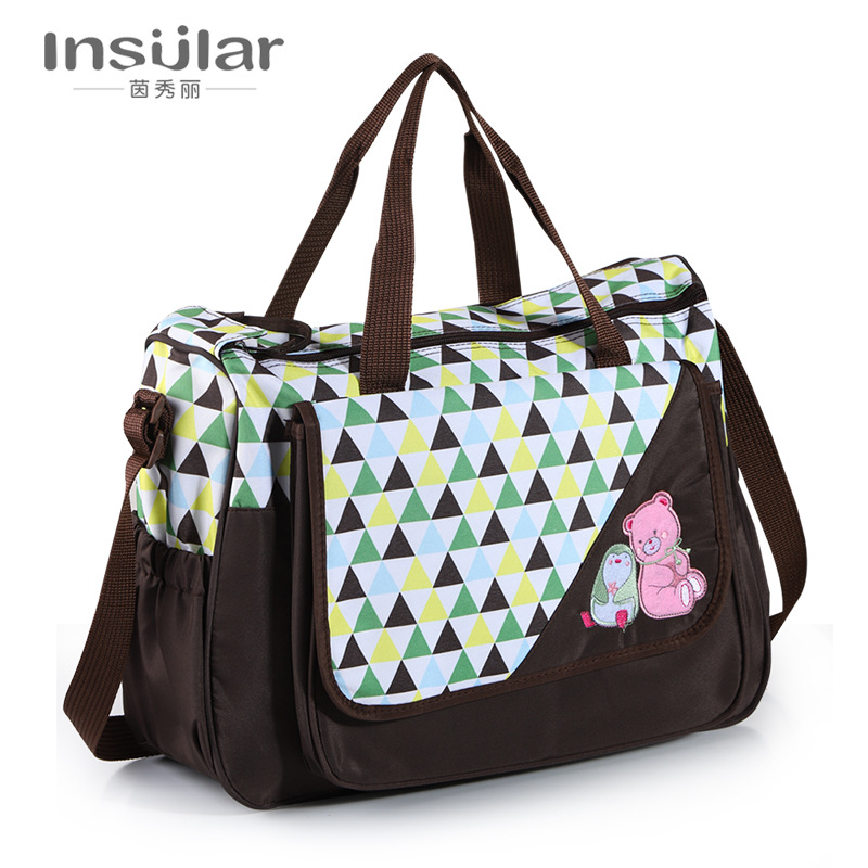 Insular New Style Fashion Shoulder Multi-functional Large-Volume Diaper Bag Maternity Package Mom And Baby Diaper Bag Cross Bord