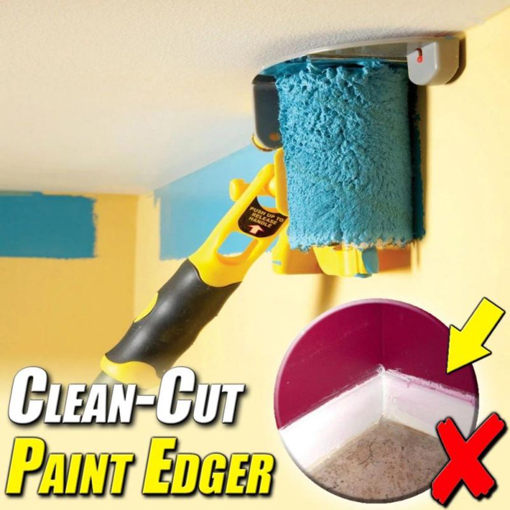Clean-Cut Paint Edger Roller Brush Edging Tool For Wall Ceiling Painting DIY Paint Roller Brush Tools