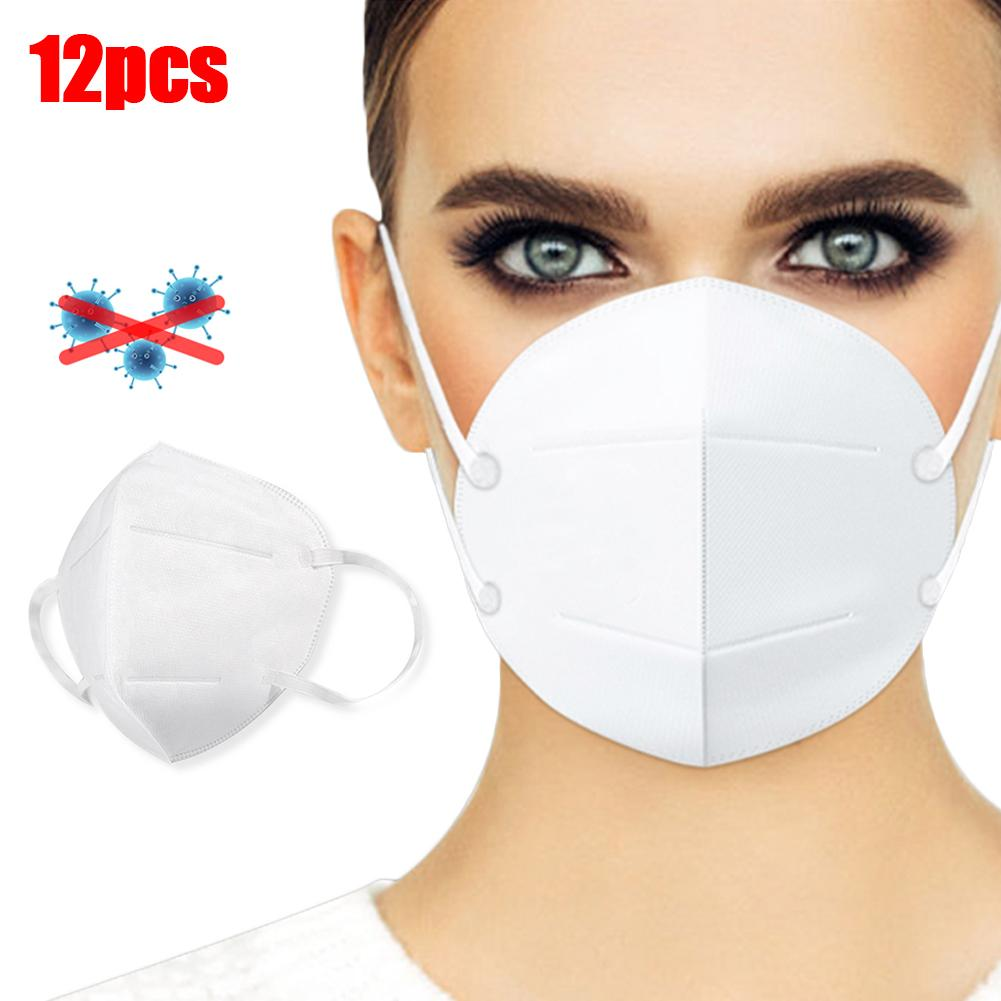 Practical 12Pcs KN95 Disposable Dustproof Anti Droplet Haze Protective Face Mouth Masks Prevent The Spread Of Saliva Dust Mask