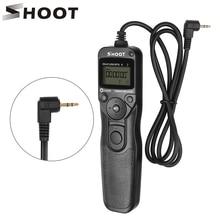 SHOOT RS 60E3 LCD caméra minuterie déclencheur télécommande pour Canon 1300D 1100D 1200D 500D 550D 450D ELAN 7 ELAN 7N ELAN II