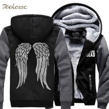 The Walking Dead Sweatshirts Hoodie Men 2018 Winter Warm Fleece Thick Zipper Streesweat Mens Hoodies Hip Hop Coat Wings Jackets