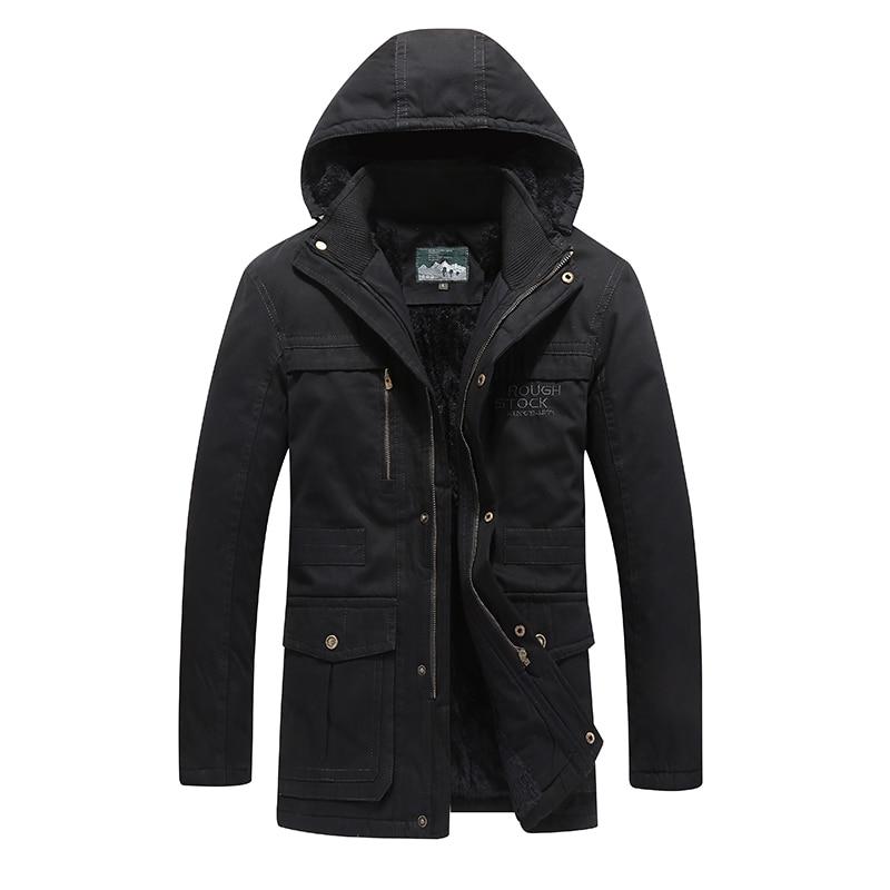 Men's Jacket Cotton Mens Jackets and Coats Casual Streetwear Parka Men Thick Warm Men's Jackets Solid Men's Winter Jacket Long