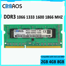 CMAOS Laptop Ram ddr3 8Gb 4GB 2GB 1066 1333 1600 1866 pamięć do notebooka pamięć ddr3 4G 8G 2G ram sodimm Sdram RAM dla Intel i AMD