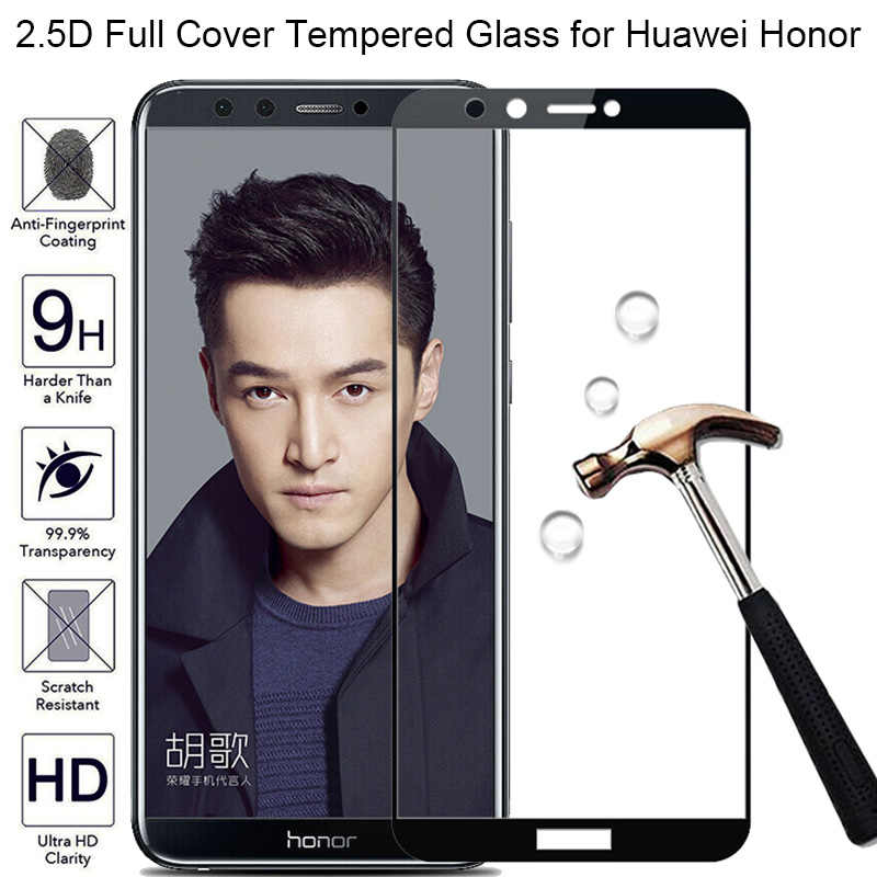 Huawei Y9 2019 Tempered Glass Full Cover Screen Protector for Honor 9 Lite 10 Lite 8 Pro Protective Glass for Honor 8X 7X 6X 7S