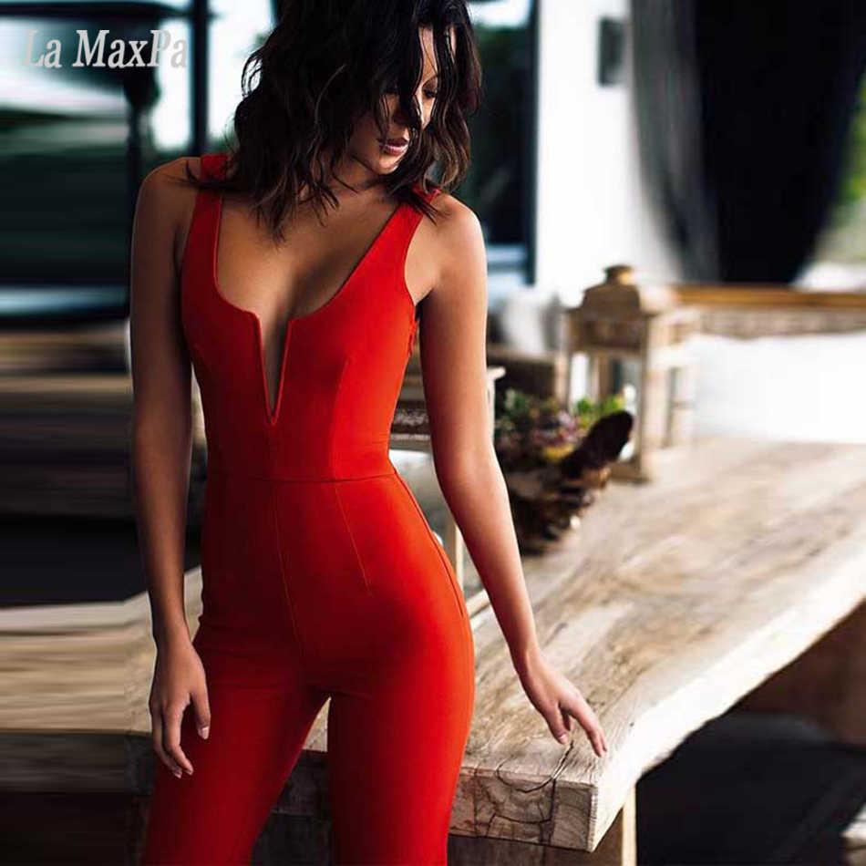 2020 yeni kadın seksi tayt turuncu kapalı omuz tulumlar kolsuz askısız ünlü parti tulumlar Vestidos toptan