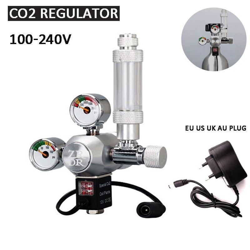 Acquario regolatore di CO2 fai da te, elettrovalvola contatore di bolle sistema di controllo CO2 valvola di riduzione della pressione, attrezzatura per anidride carbonica|CO2 Equipment| - AliExpress