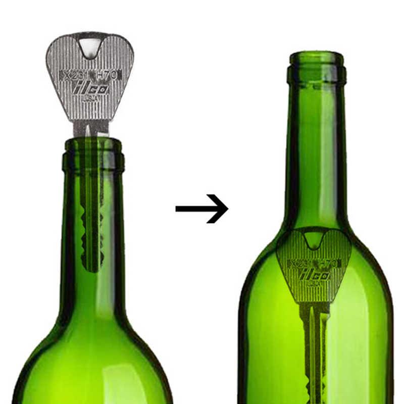 2 قطعة لعبة جديدة خدعة سحرية للطي مفتاح من خلال زجاجة أو حلقة اختراق معبر السحر تظهر الدعائم لعبة نكتة سحرية لعبة الضغط
