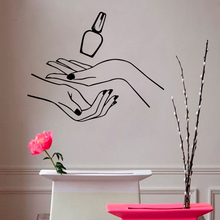 Vinyl Art Design Poster Mural Nails Beauty Salon Wall Sticker For Nail Girls Shop Decor Decals W723