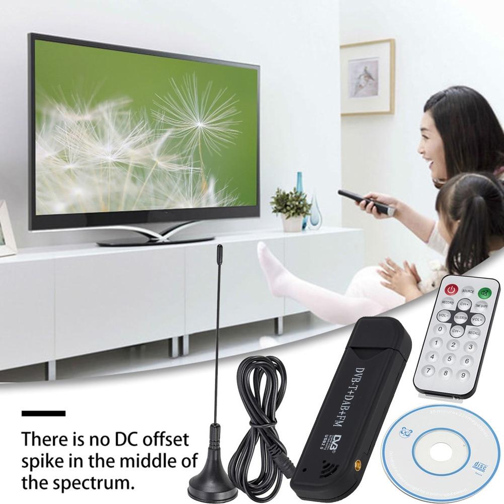 Цифровой ТВ-Стик USB 2,0 DVB-T DAB FM антенный приемник Мини SDR видео-донгл для домашнего телевидения игральные украшения