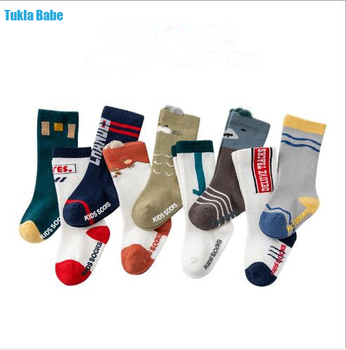 0-3Year 1 Pair Autumn and winter boy girl tube socks new loose mouth three-dimensional infant children's baby cartoon socks