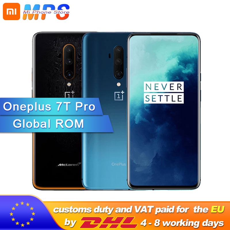 Global ROM New OnePlus 7T Pro 8GB 12GB RAM 256GB ROM Snapdragon 855 Plus Smartphone 4085mA 6.67'' AMOLED 90Hz Screen 48MP Camera