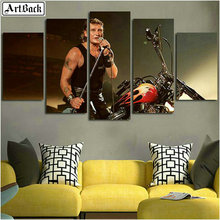 Five diamonds painting johnny hallyday motorcycle landscape full square 5d diamond mosaic embroidery decorative painting цена и фото