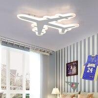 Techo delgado para habitación de niños, lámpara de aviación regulable con control remoto, diseño minimalista y moderno, con personalidad creativa