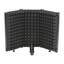 LO-PS68/69 3/5 Panels Broadcast Studio Adjustable Angle Foldable Noise Reduction Sound Absorbing Microphone Wind Screen Shield