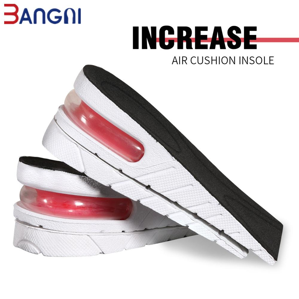3ANGNI 1 Pair Random Color Air Cushion Height Increase Insole PVC Adjustable Lift Height Shoe Insole For Women Men Insert