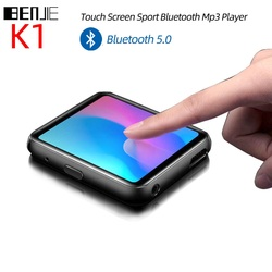Touch Screen Clip MP3 Player BENJIE K1 Portable Bluetooth Music Player HiFi Metal Audio Player with FM Radio Voice Record Ebook