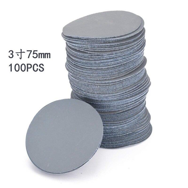 Supply 3-Inch 75 Size Flocked Sandpaper Napper Up Gas Grinding 3000 Mesh Mirror Polishing Sandpaper 100 Zhang Set