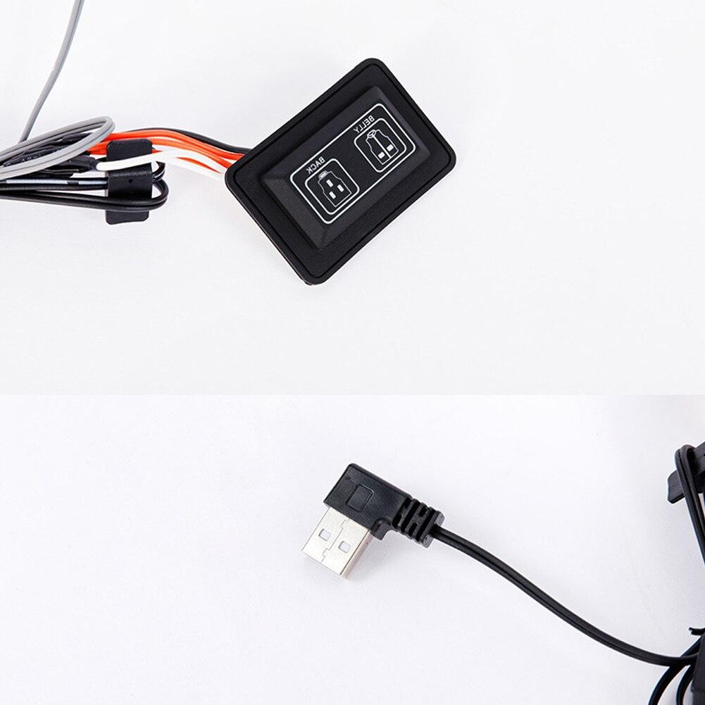 Двойной Управление Переключатель 5 В Трехскоростной Температура Регулировка И Отдельный Управление USB Пять Подогрев Пластина Для Обогрева Жилет Одежда