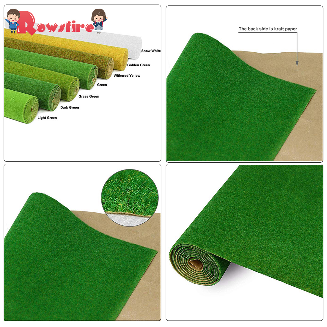 1 Pcs 41 X 100cm Artificial Grassland Grass Lawn Turf Grass DIY Railway Model Sand Table Model Decor - Grass Green