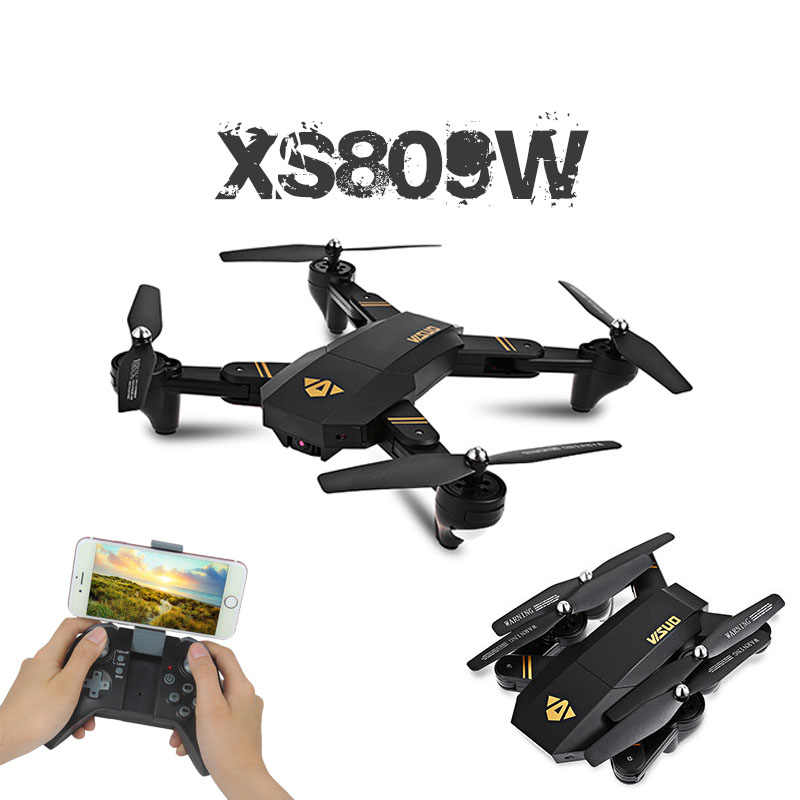 Visuo XS809W XS809HW Quadcopter ミニ折りたたみ Selfie ドローンと Wifi FPV 0.3MP/2MP カメラ高度ホールド RC Dron Vs JJRC H47 E58