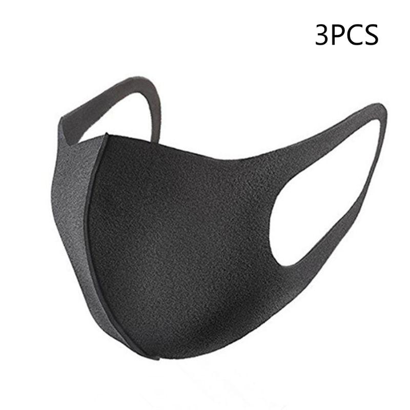 3Pcs Anti Virus Sponge Mouth Mask Washable Dustproof Reusable Face Mask Adult Kit X7YB
