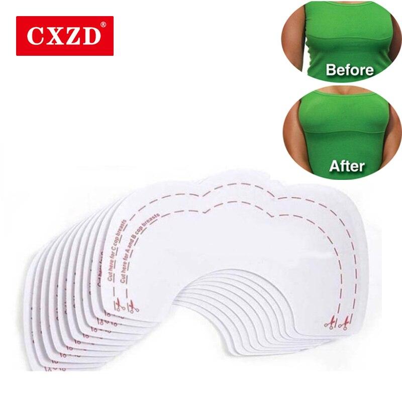 CXZD 10 шт.(5 пар) женское нижнее белье бюстгальтер без косточек приподнимает грудь клейкие ленты клейкая лента для бюстгальтера самоклеящаяся наклейка на сосок