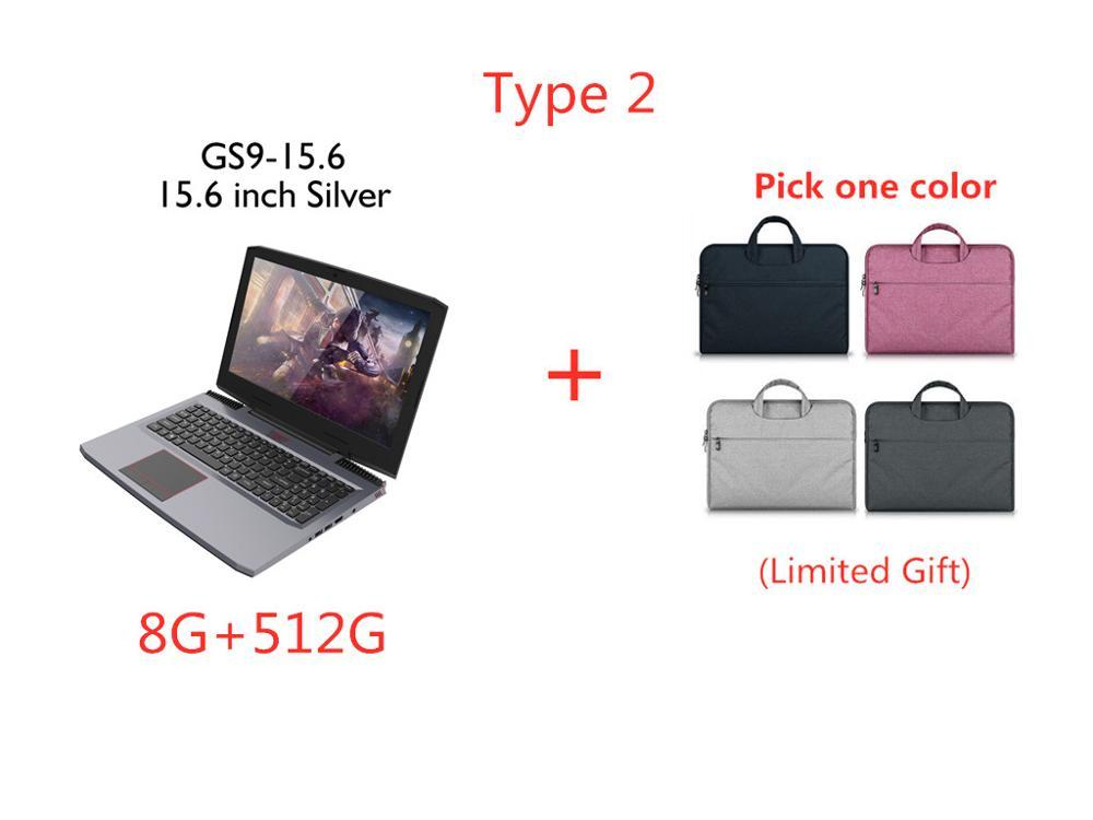 "15,"" Ноутбук Intel Core i7-7700HQ четырехъядерный NVIDIA GTX1060 6G DDR4 8 ГБ+ 512 ГБ M.2 SSD Windows 10 144 Гц HDMI Gigabit RJ45 5G wifi - Цвет: 8G-512G Type 2"