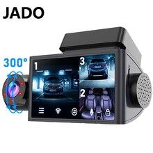 JADO Авто тире Камера HD1080P Автомобильный видеорегистратор Даш Камера 3 Камера s Ночное видение видеорегистратор Даш Cam Автомобильная 24 часа в с...