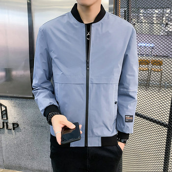 Mens coat spring and autumn trend handsome jacket mens leisure 2020 new bomber