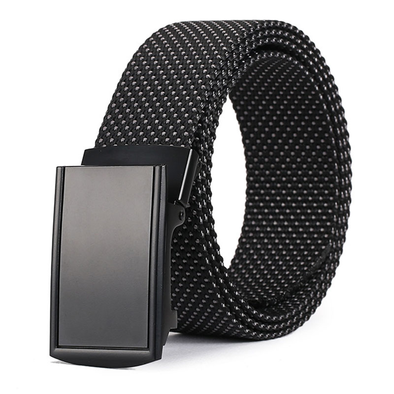 Tactical Alloy Automatic Buckle Belt Unisex Men Women Luxury Designer Belts Men High Quality Canvas Kids Belt For Boys Girls