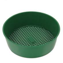 Fine Mesh Sieve Mesh Gardening Tool Plastic Green Perfect for Balcony Garden Soil Stone Convenient Light Garden Sieve(China)