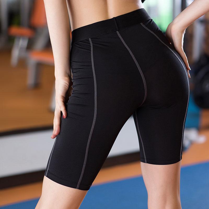 Yuerlian Shorts Running Women Black Fitness Mujer Yoga Pantalones Tights Cortos Tennis